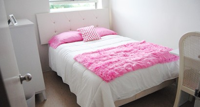 Pink bedrom for 12 year old girl